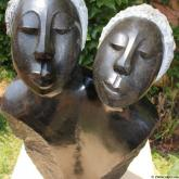 Sisters ii by Agnes Nyanhongo Price on application